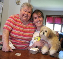 Together with Dorothy Joan Kendall on the day I picked Ally up and brought her home.